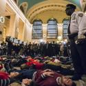 protest at grand central
