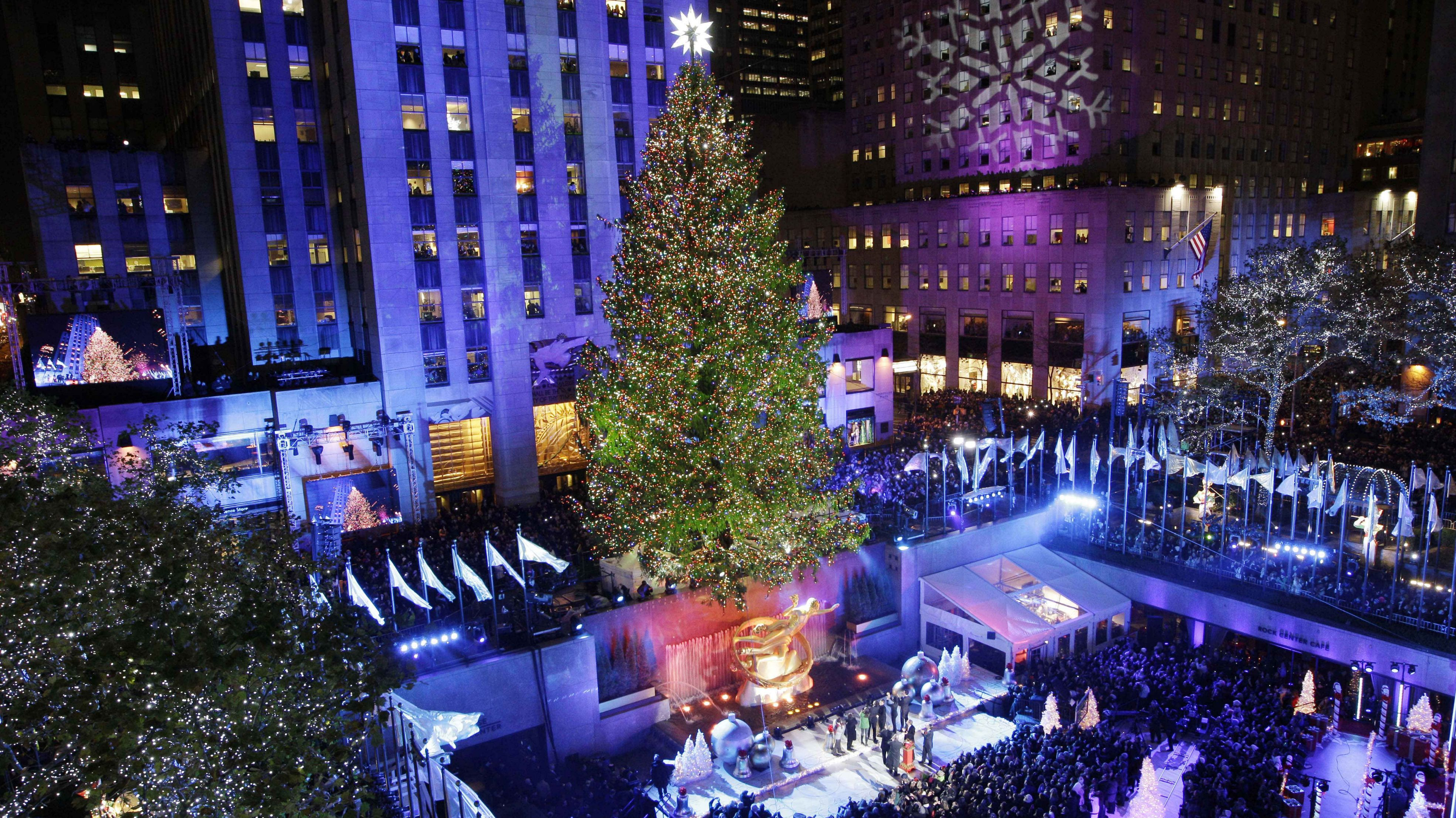 The Rockefeller Center Christmas Tree Is Lit During The 80th Annual Tree  Lighting Ceremony At Rockefeller
