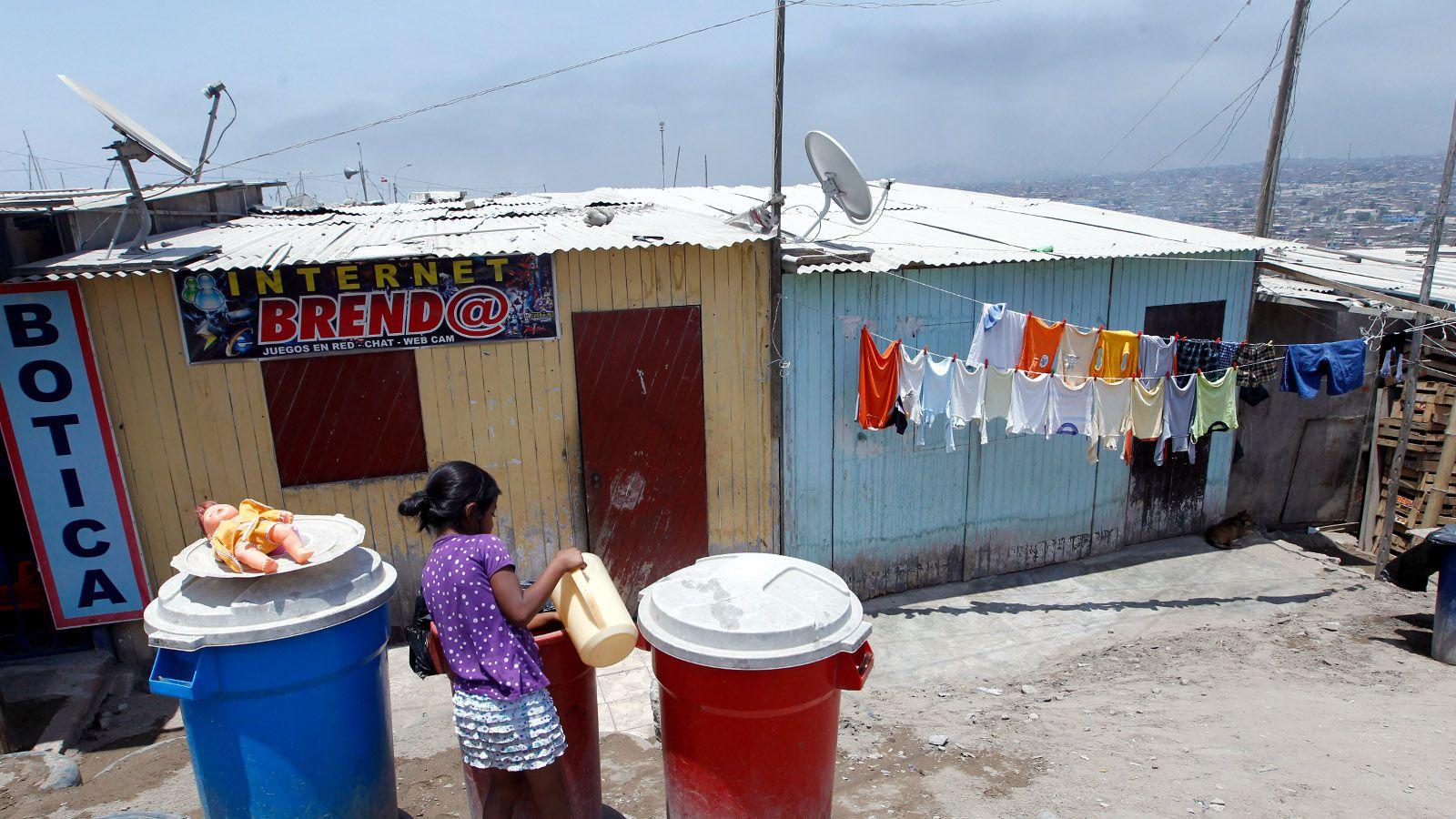 A public internet service is seen in Juan Pablo II shanty town in Villa El Salvador,Lima January 31, 2012.
