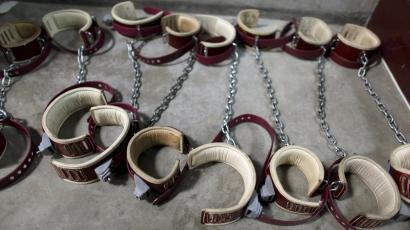 Shackles at Guantanamo Bay Prison