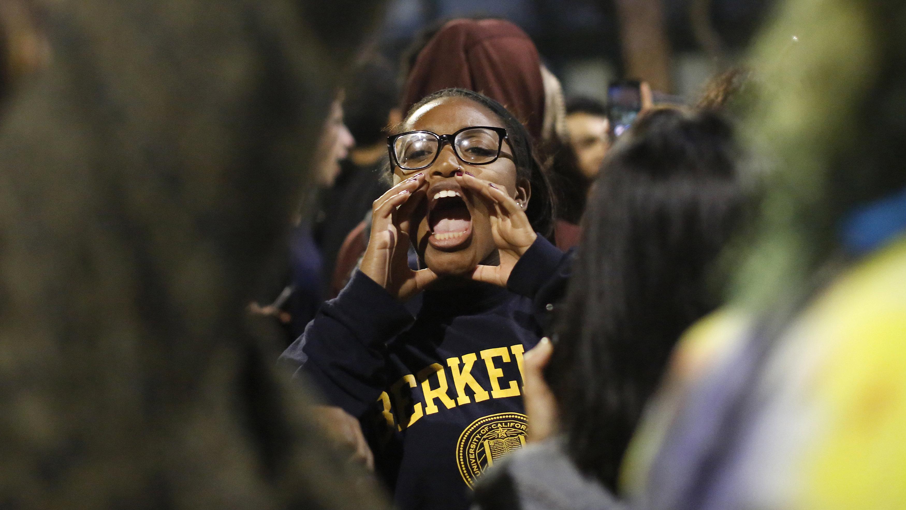 student protestor