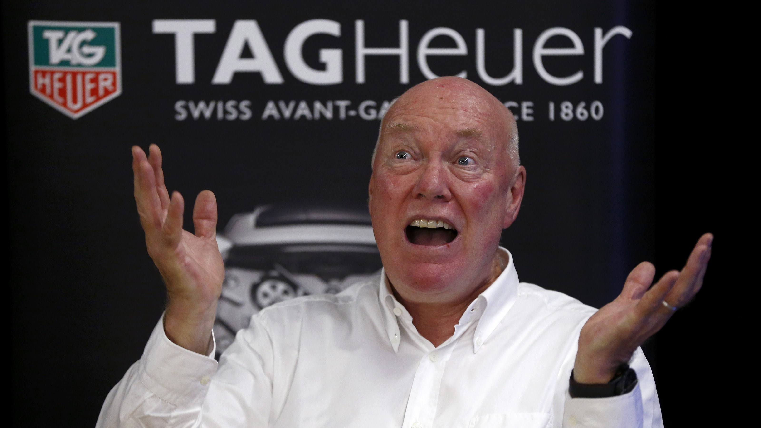 Jean-Claude Biver, head of French luxury goods group LVMH's watch business and interim CEO of the group's biggest watch brand, TAG Heuer, addresses a news conference in the western Swiss town La Chaux-de-Fonds December 16, 2014. REUTERS/Arnd Wiegmann