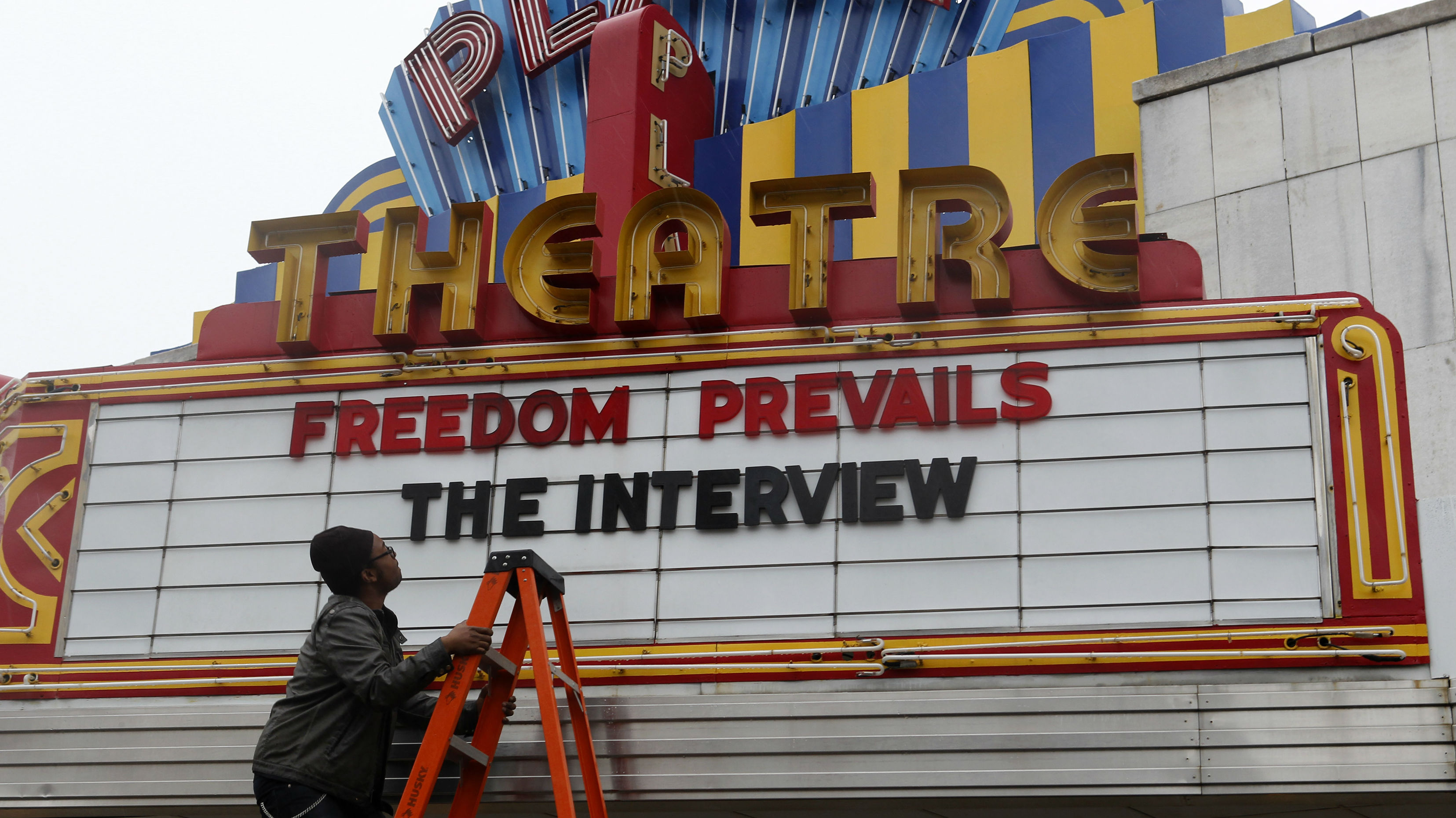 The Interview theater sign