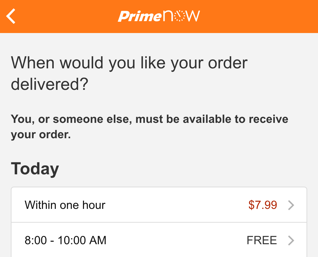 Test Run Of Amazons New Prime Now Instant Delivery Service Verdict