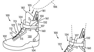 """Image from Nike's """"Automatic lacing system"""" patent."""