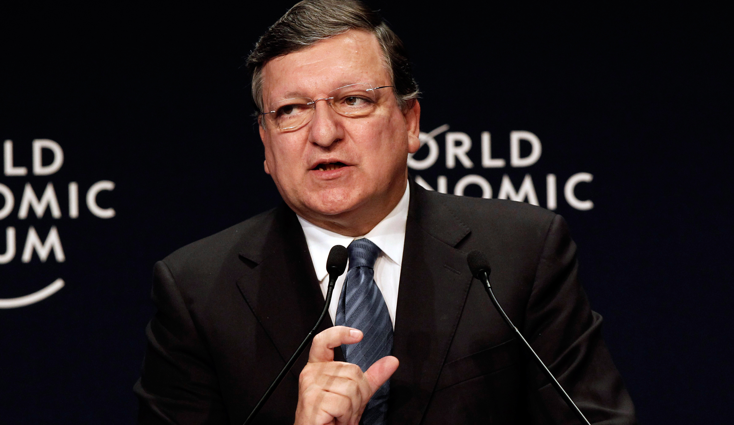 European Commission President Jose Manuel Barroso speaks during the World Economic Forum Special Meeting on Unlocking Resources for Regional Development in Istanbul