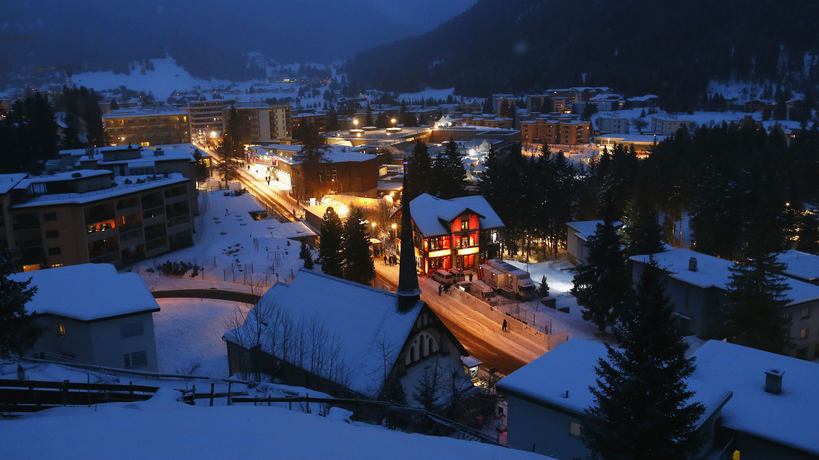 The context at Davos is quite pretty.