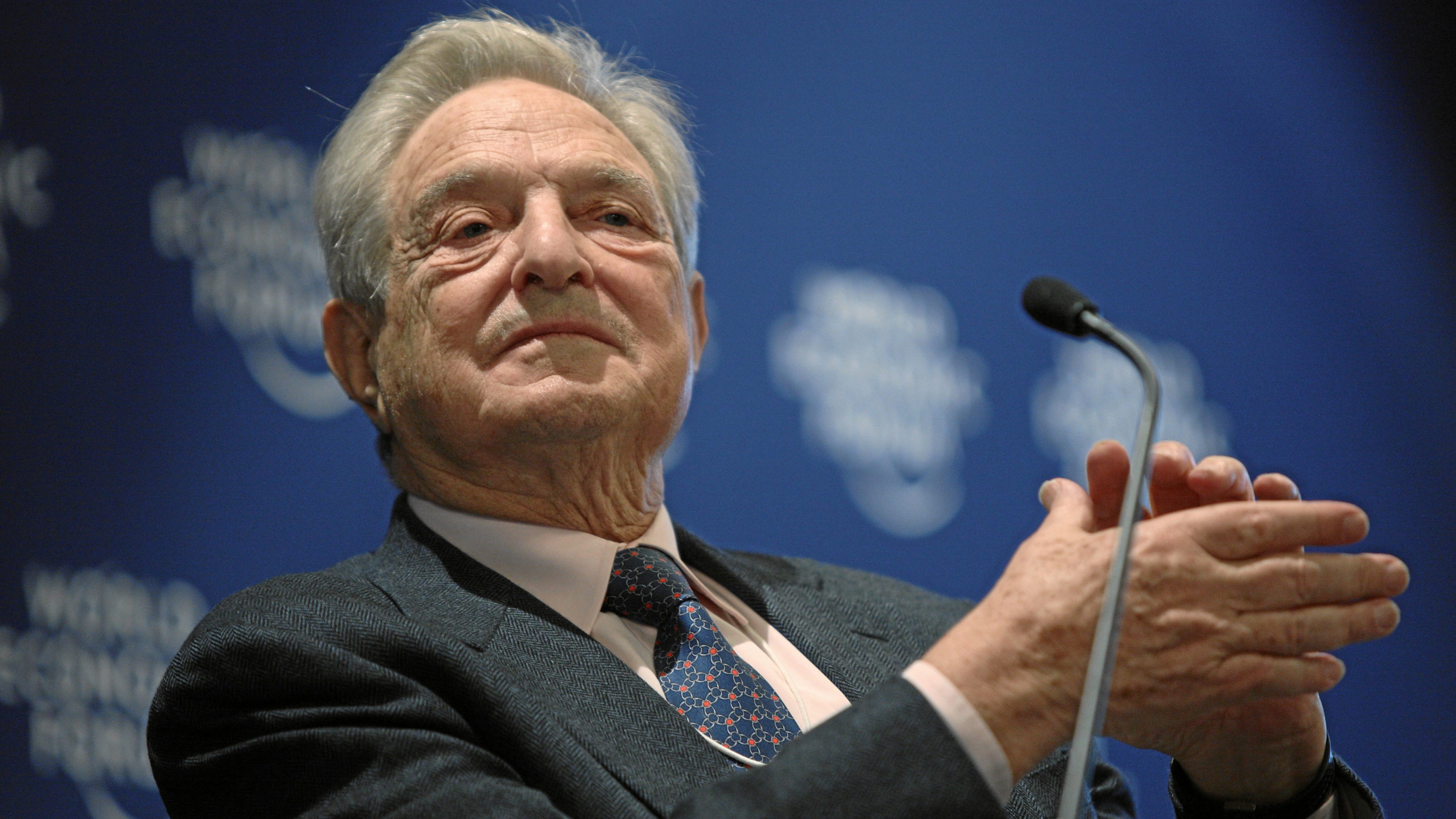 DAVOS/SWITZERLAND, 27JAN10 - George Soros, Chairman, Soros Fund Management, USA, captured during the session 'Rebuilding Economics' of the Annual Meeting 2010 of the World Economic Forum in Davos, Switzerland, January 27, 2010 at the Congress Centre.  Copyright by World Economic Forum swiss-image.ch/Photo by Sebastian Derungs
