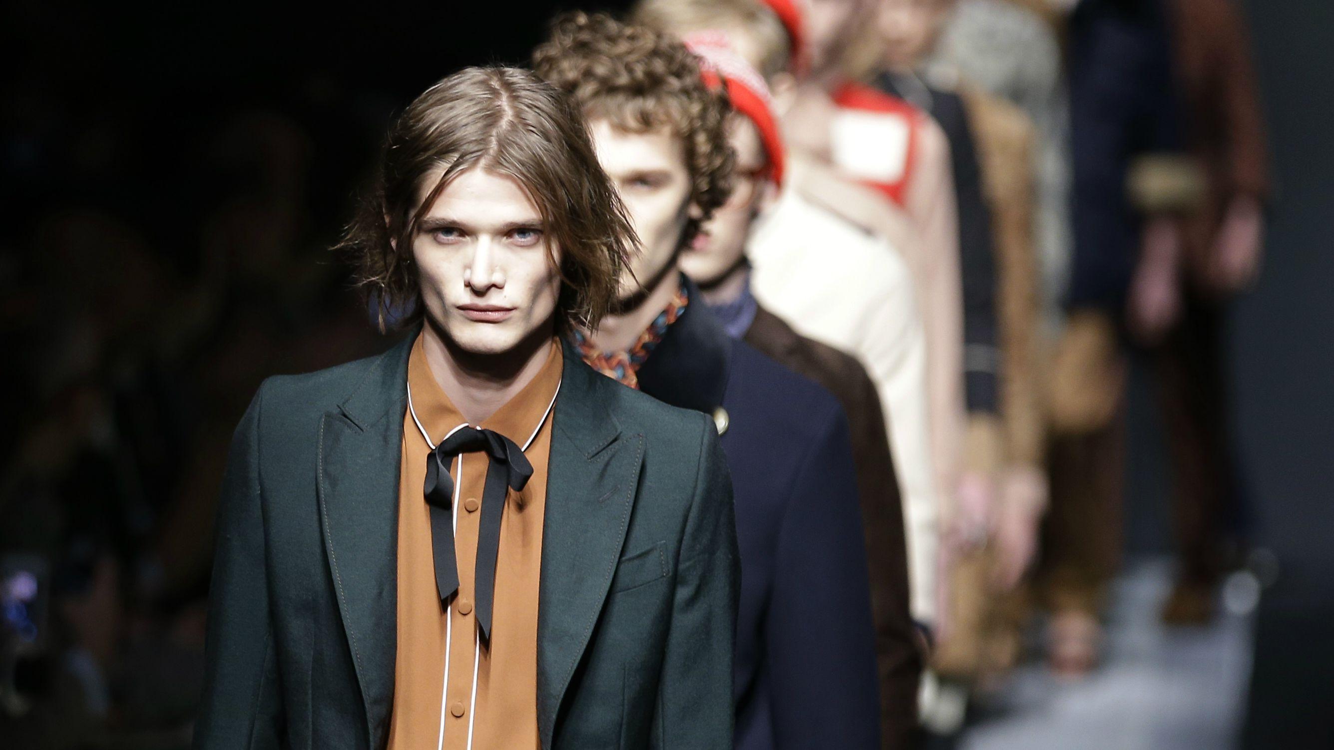 acd92f0c47f0 AP Photo/Antonio Calanni. Models in Gucci's ...