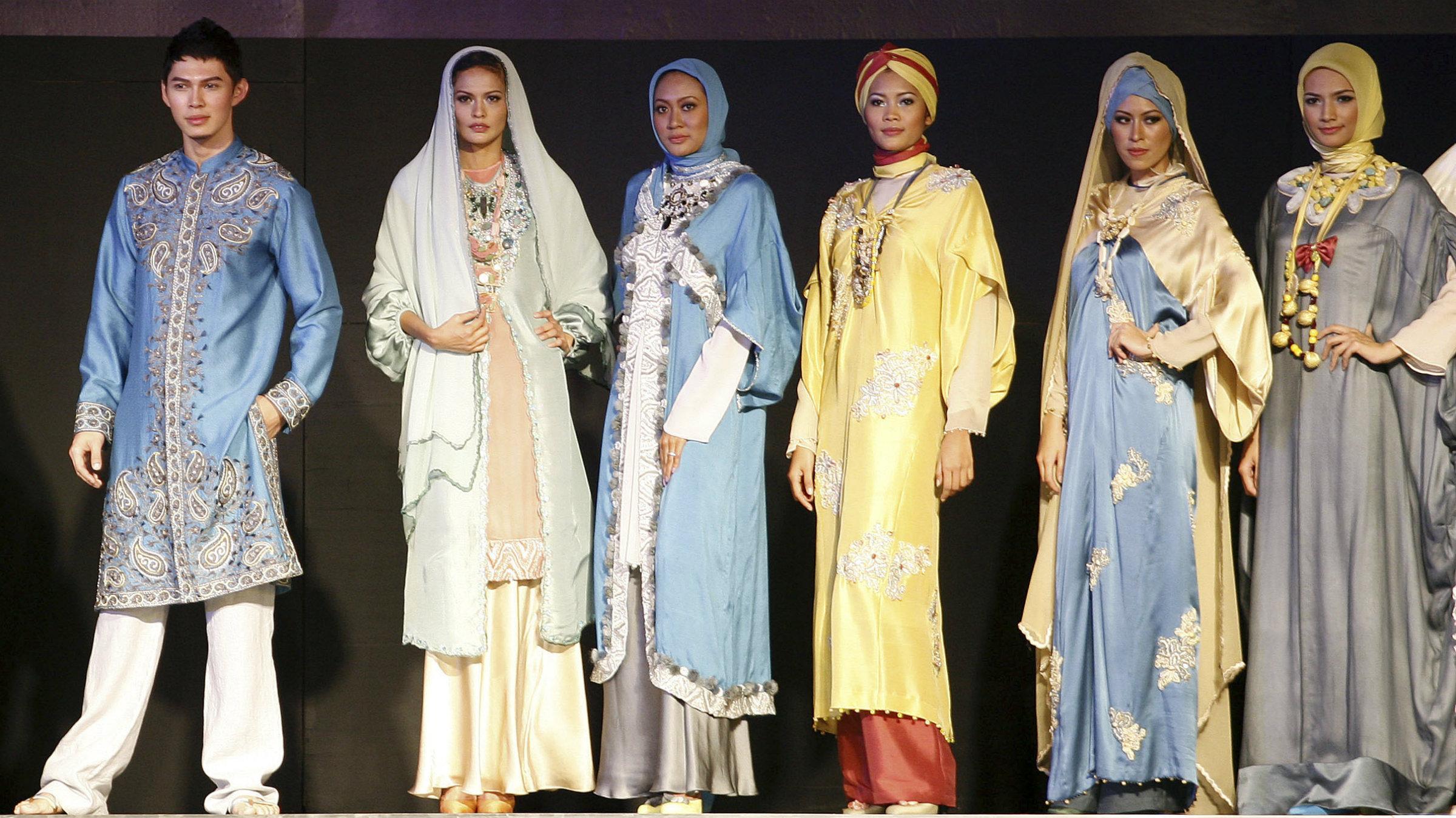 Muslims fashion show.