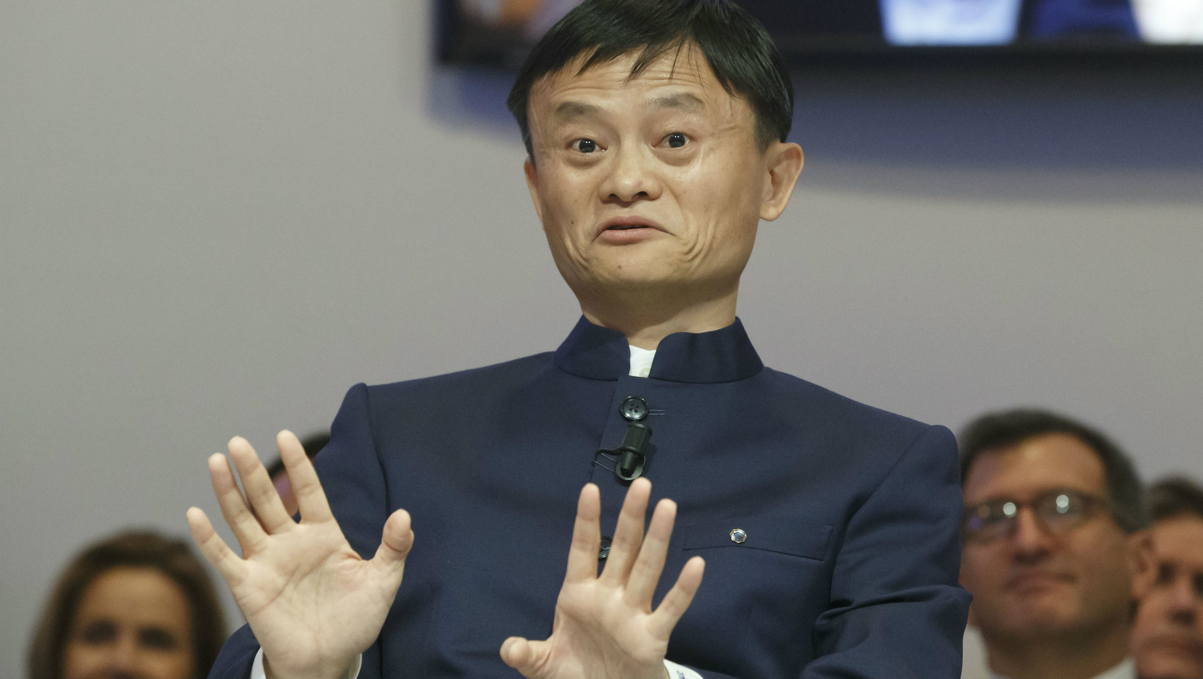 Alibaba founder Jack Ma at Davos in 2015.