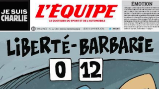 Charlie Hebdo repeatedly mocked sports journalism. L'Equipe responded with a moving tribute.
