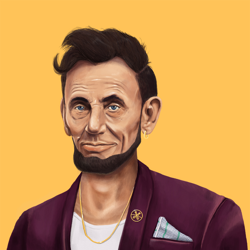 Abraham Lincoln looking fresh.
