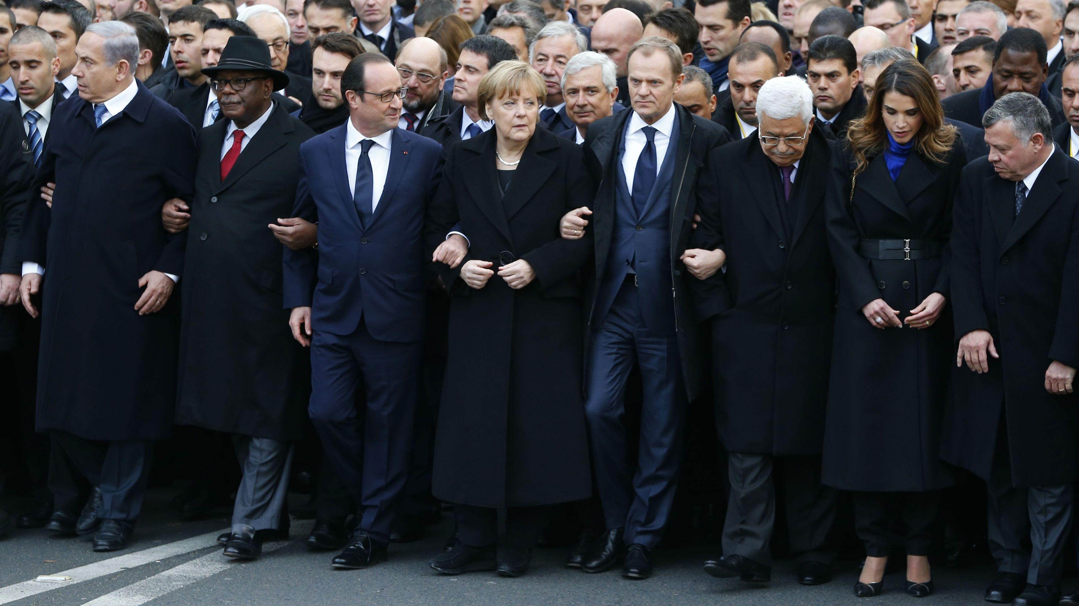 Angela Merkel Paris march