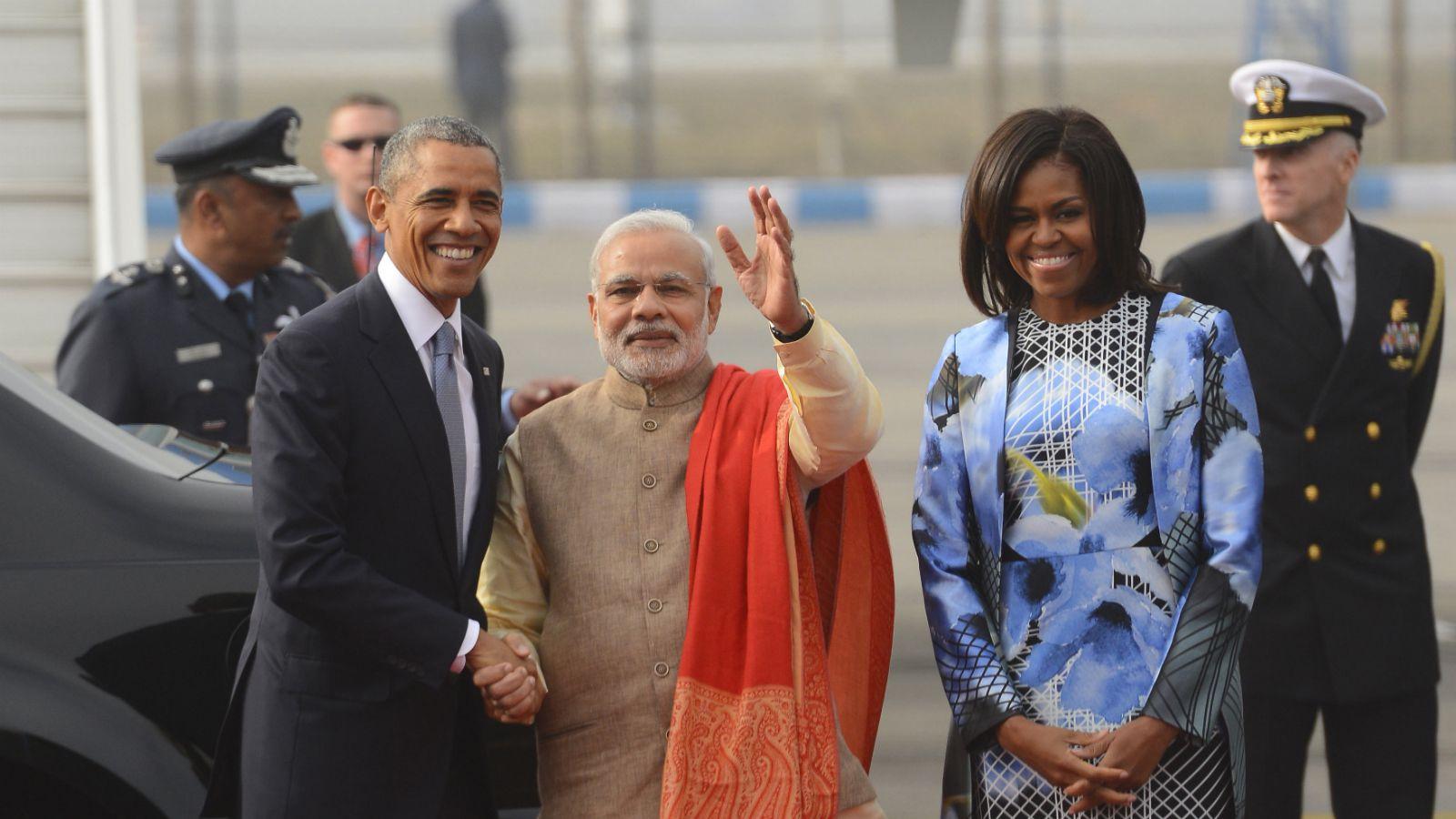 Obama-Michelle-Modi-India