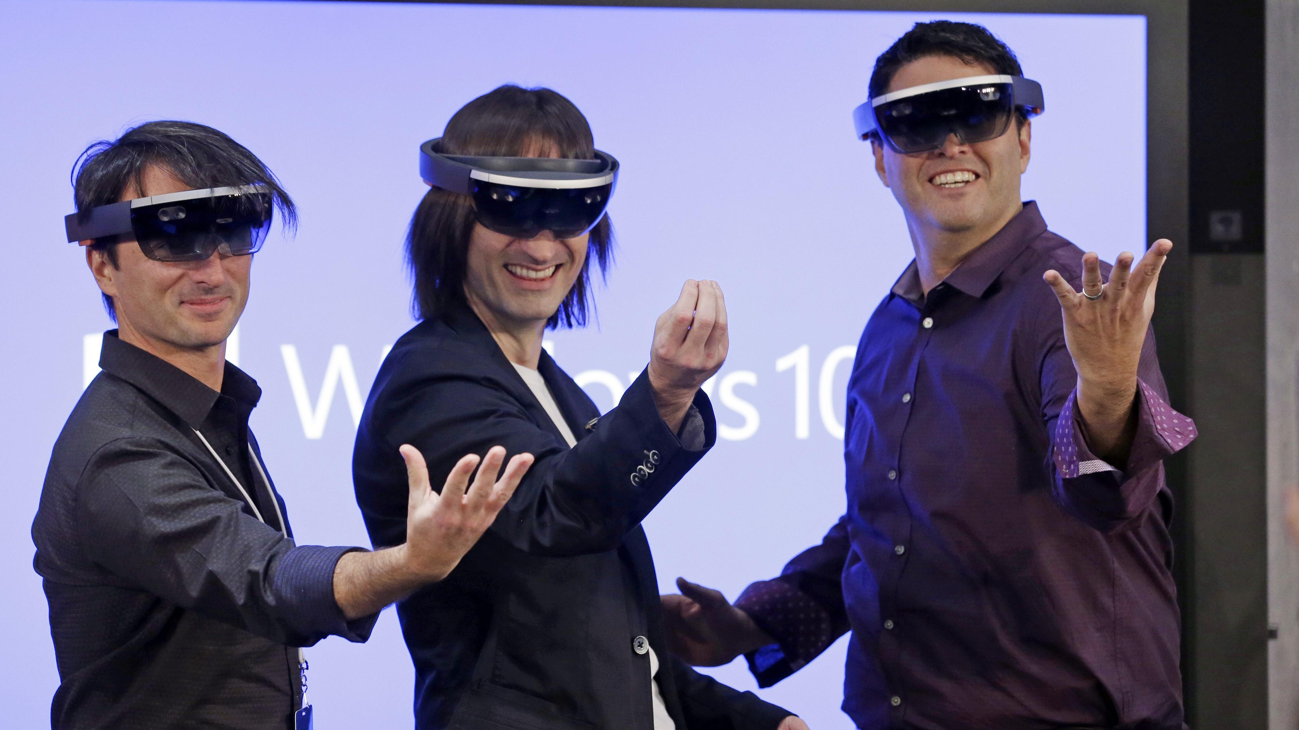 Microsoft executives HoloLens