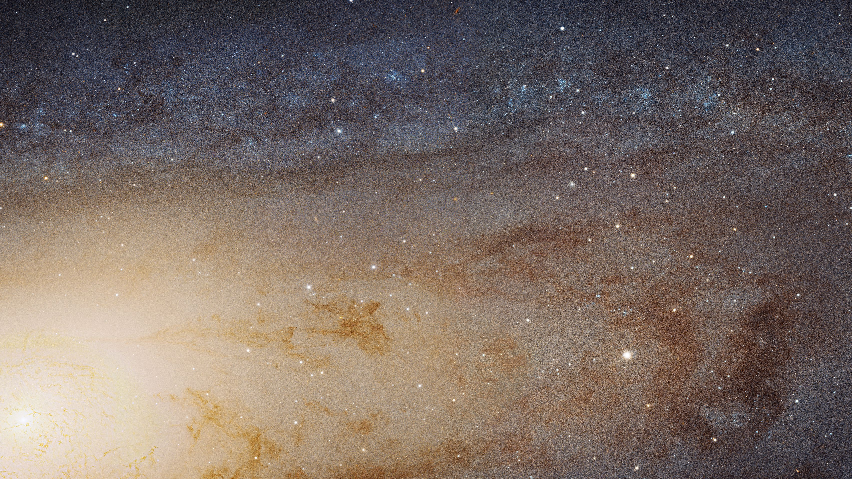 Cropped from full photo of Andromeda galaxy taken by the Hubble telescope.