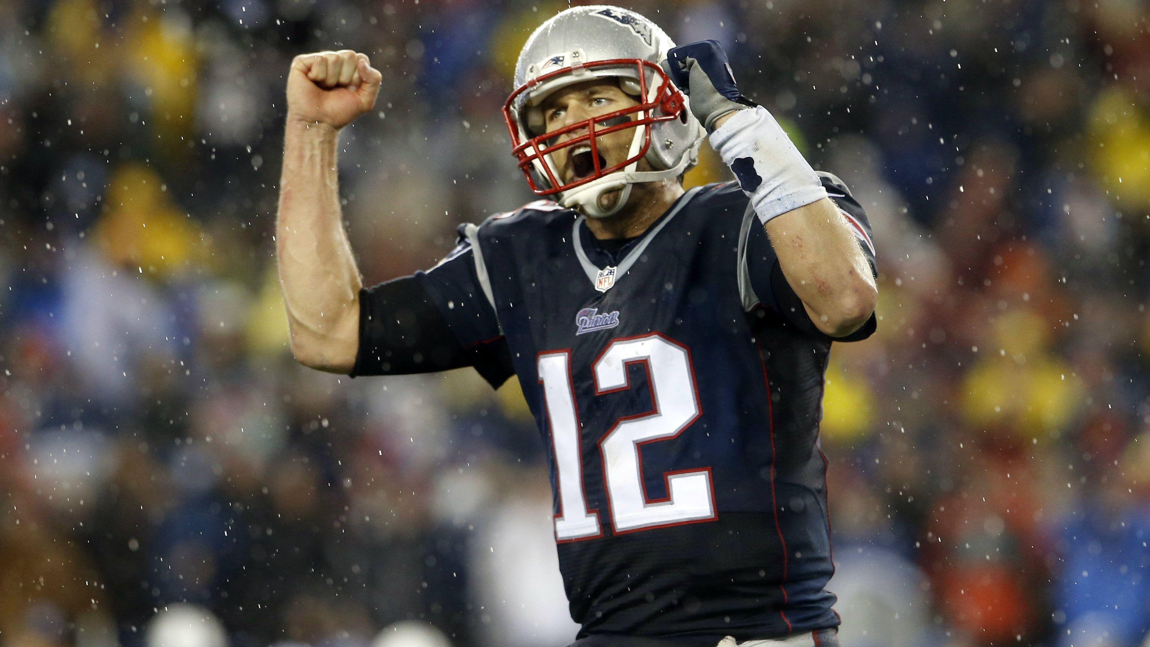 Tom Brady, of the NFL's New England Patriots