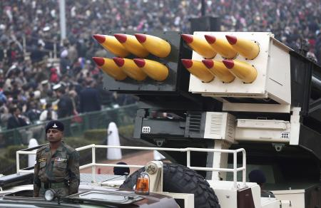 India-Republic Day-Pinaka rocket launcher