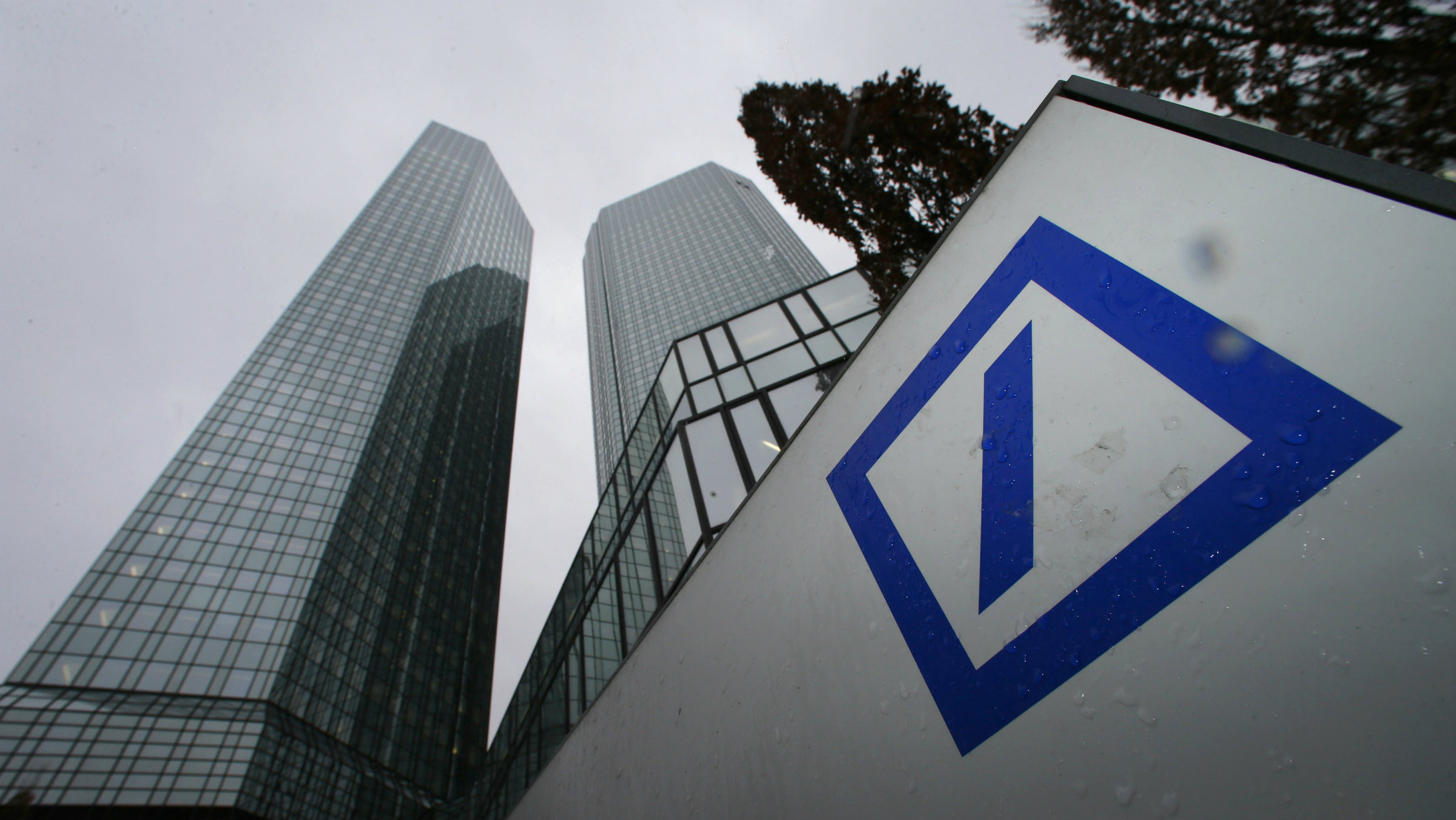 The headquarters of Deutsche Bank are pictured in Frankfurt.