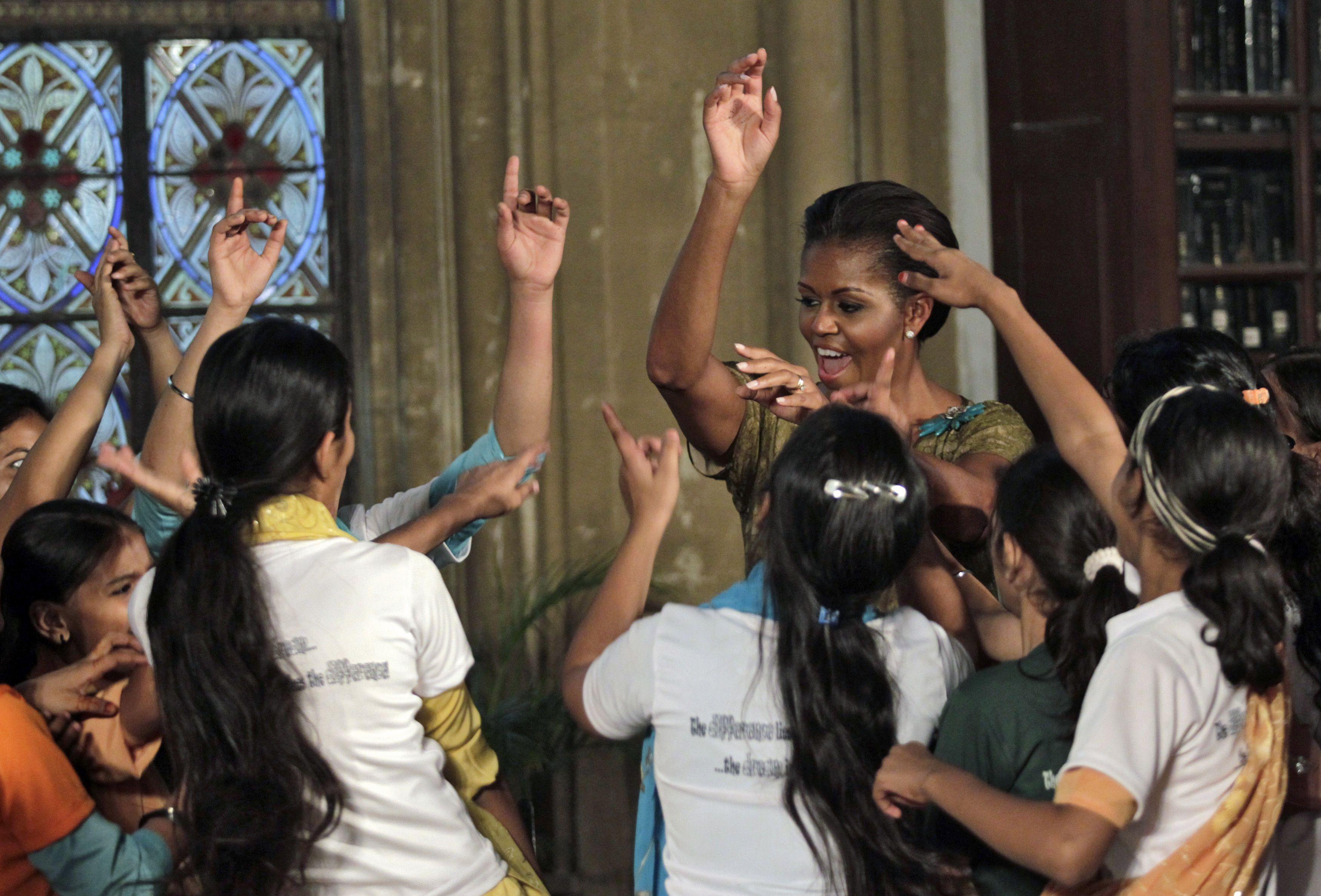 Obama-Michelle-India