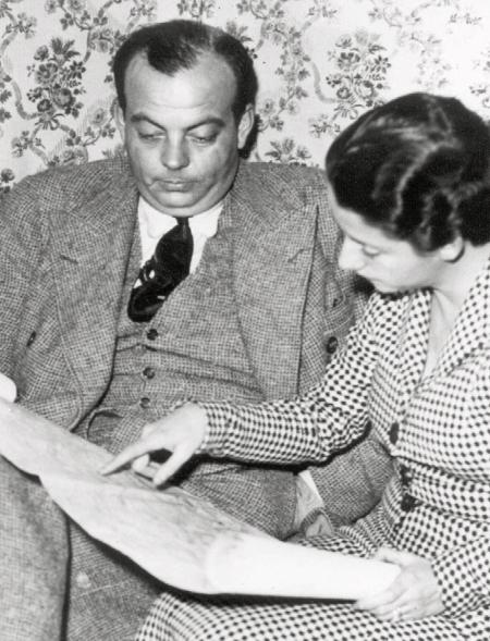 Photo dated 1936 of French novelist Antoine de Saint-Exupery with his wife Consuelo in their Paris home. (AP Photos)