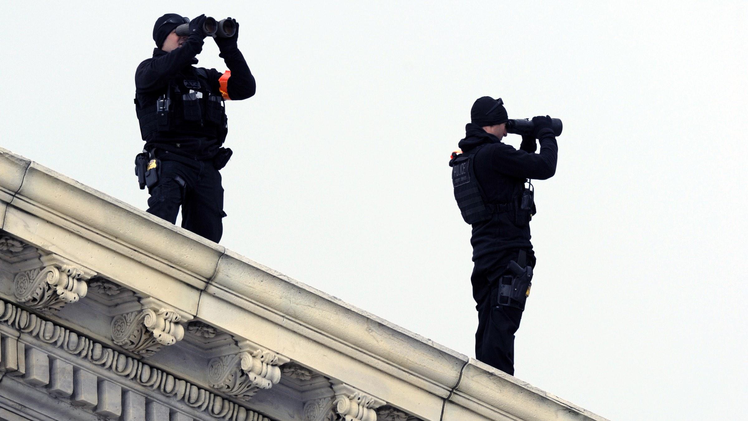 Secret Service security snipers