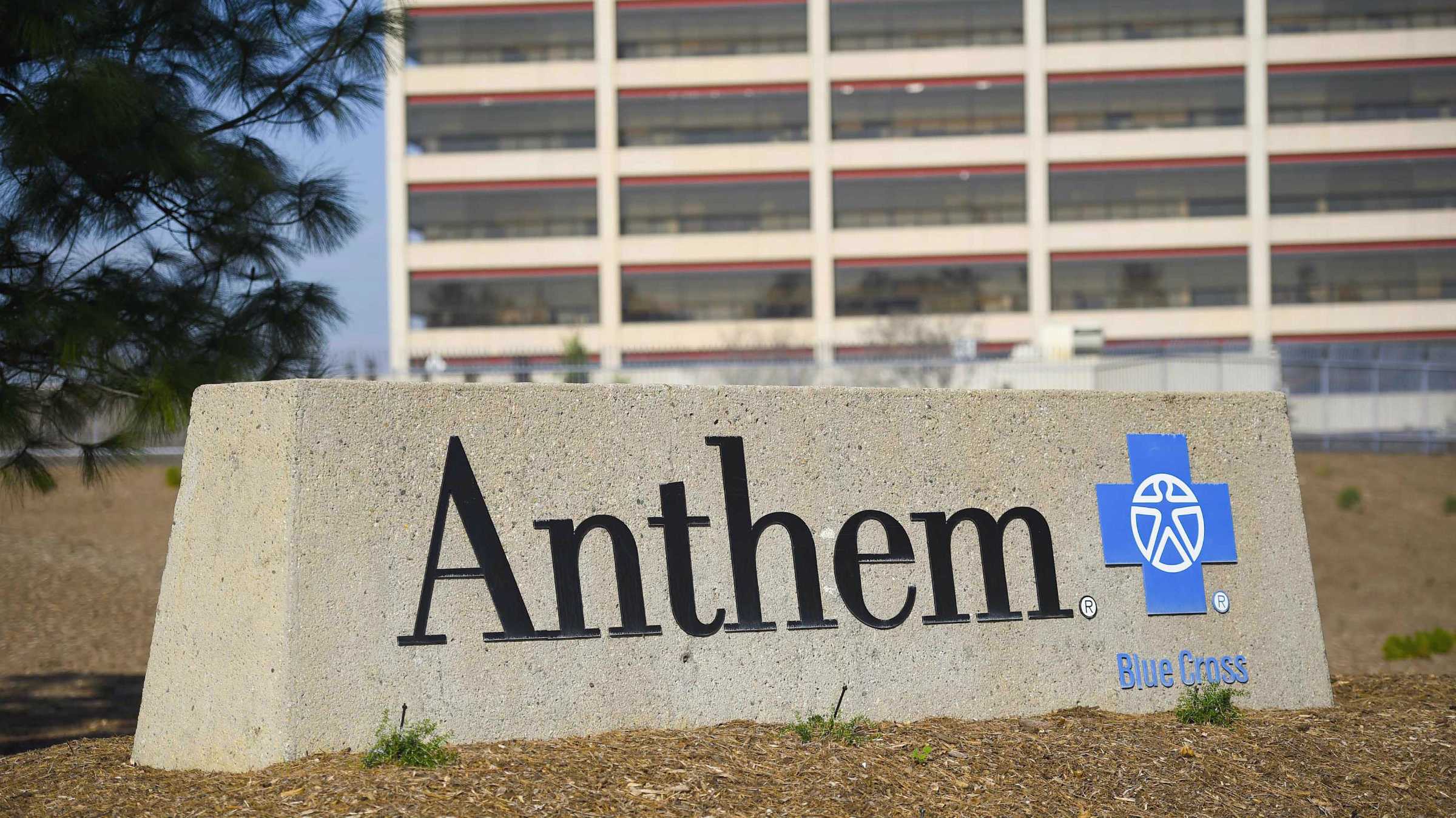 Anthem Inc. sign outside their HQ.