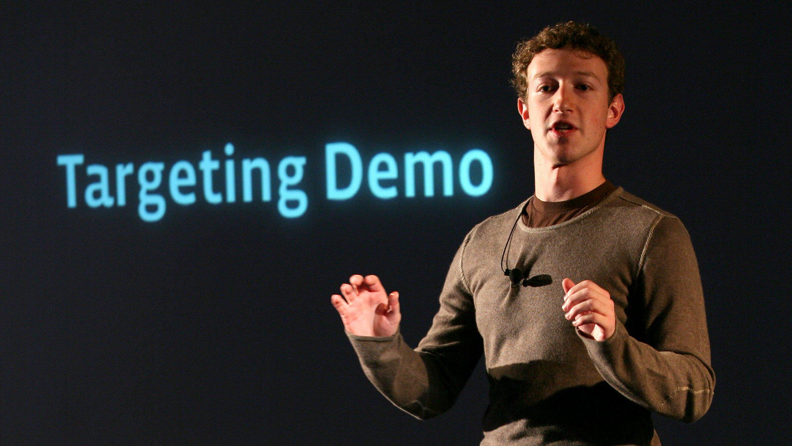 Facebook CEO and founder Mark Zuckerberg speaks to press and advertising partners at a Facebook announcement in New York in this November 6, 2007 file photo.