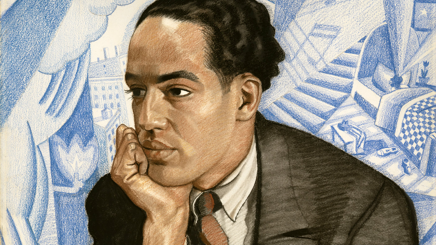 """This handout image provided by the National Portrait Gallery is a pastel on illustration board showing Langston Hughes, Winold Reiss. America often knows the names but not the faces of its great poets. Now the Smithsonian's National Portrait Gallery is introducing dozens of 20th century poets to Washington visitors. """"Poetic Likeness: Modern American Poets"""" opens Friday and will be on view through April."""