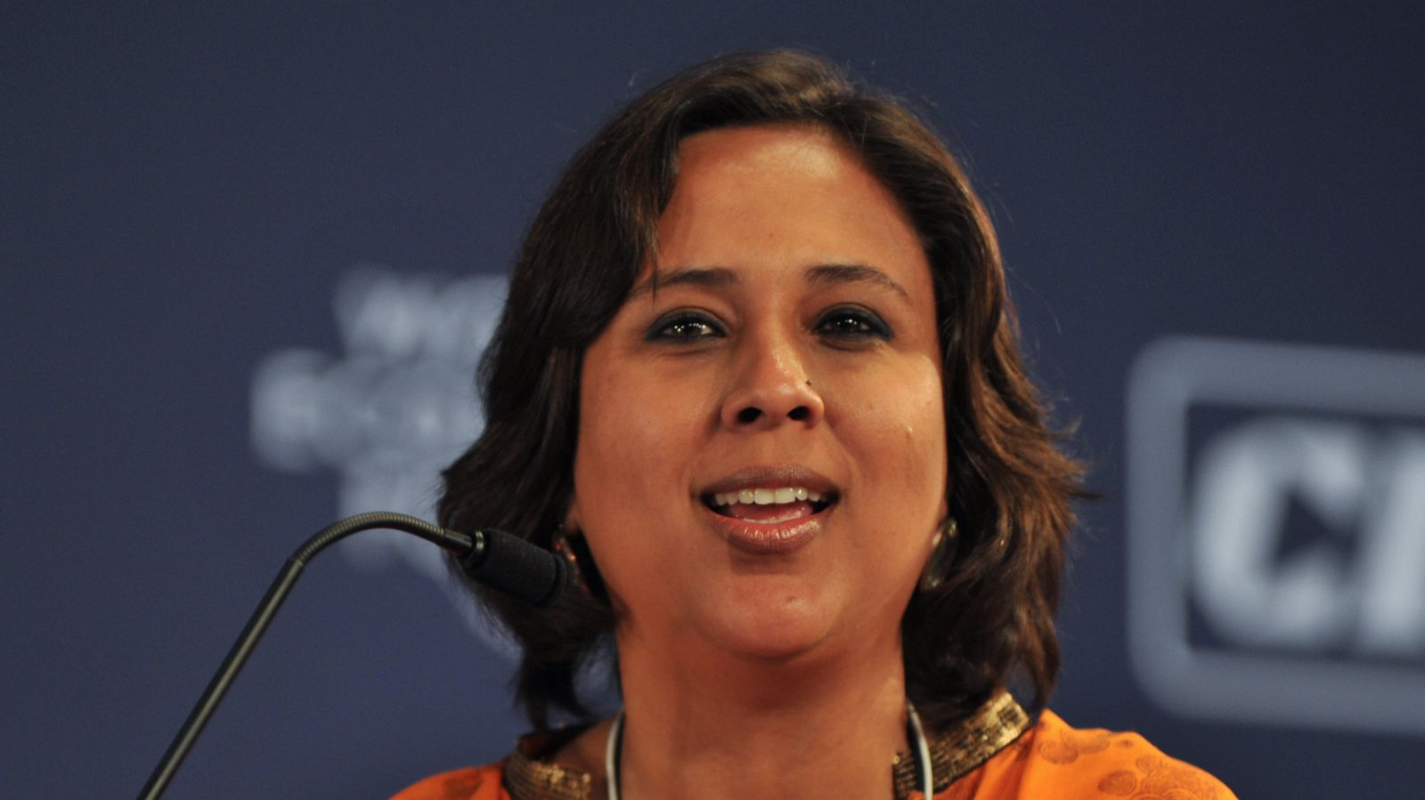 Barkha Dutt, Editor, English News, New Delhi Television (NDTV), India, Young Global Leader, during the Closing Plenary; From Delhi To Davos: The Road to Inclusive Growth at the World Economic Forum's India Economic Summit 2010 held in New Delhi.