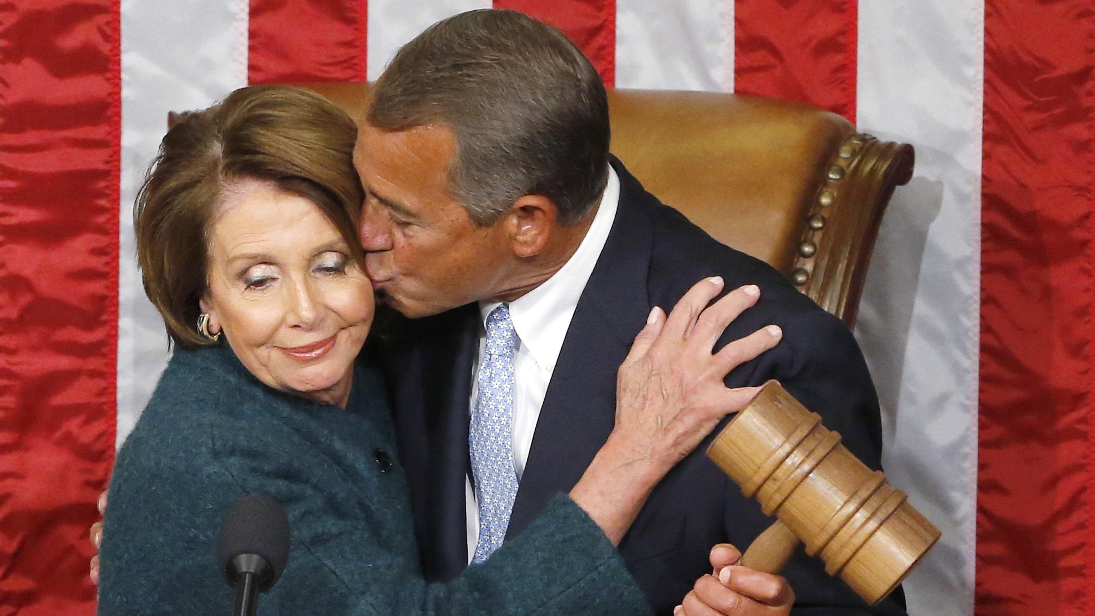 boehner pelosi kiss