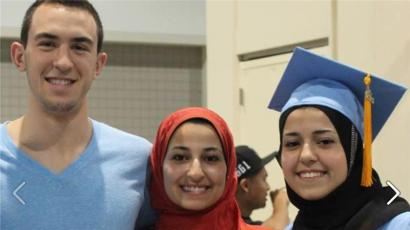 Photo of the three victims o the Chapel Hill Shooting that is being posted to social media sites in the wake of the killings.