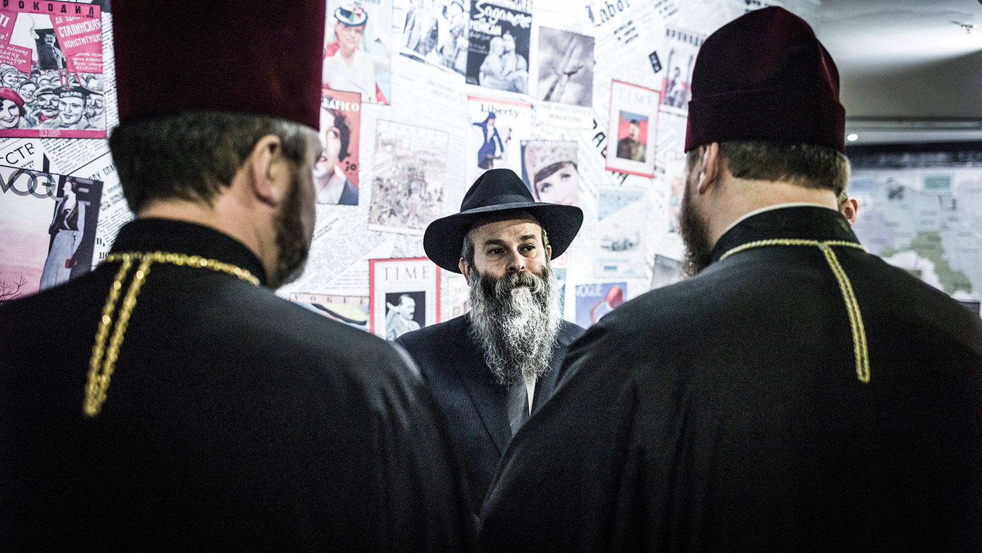 Rabbi Shmuel Kaminezki is hosting other religious leaders at Holocaust Remembrance day events. Majority of the population in Dnipropetrovsk, an industrial city of over 1 million people, belongs to one of the branches of the Orthodox Christianity.
