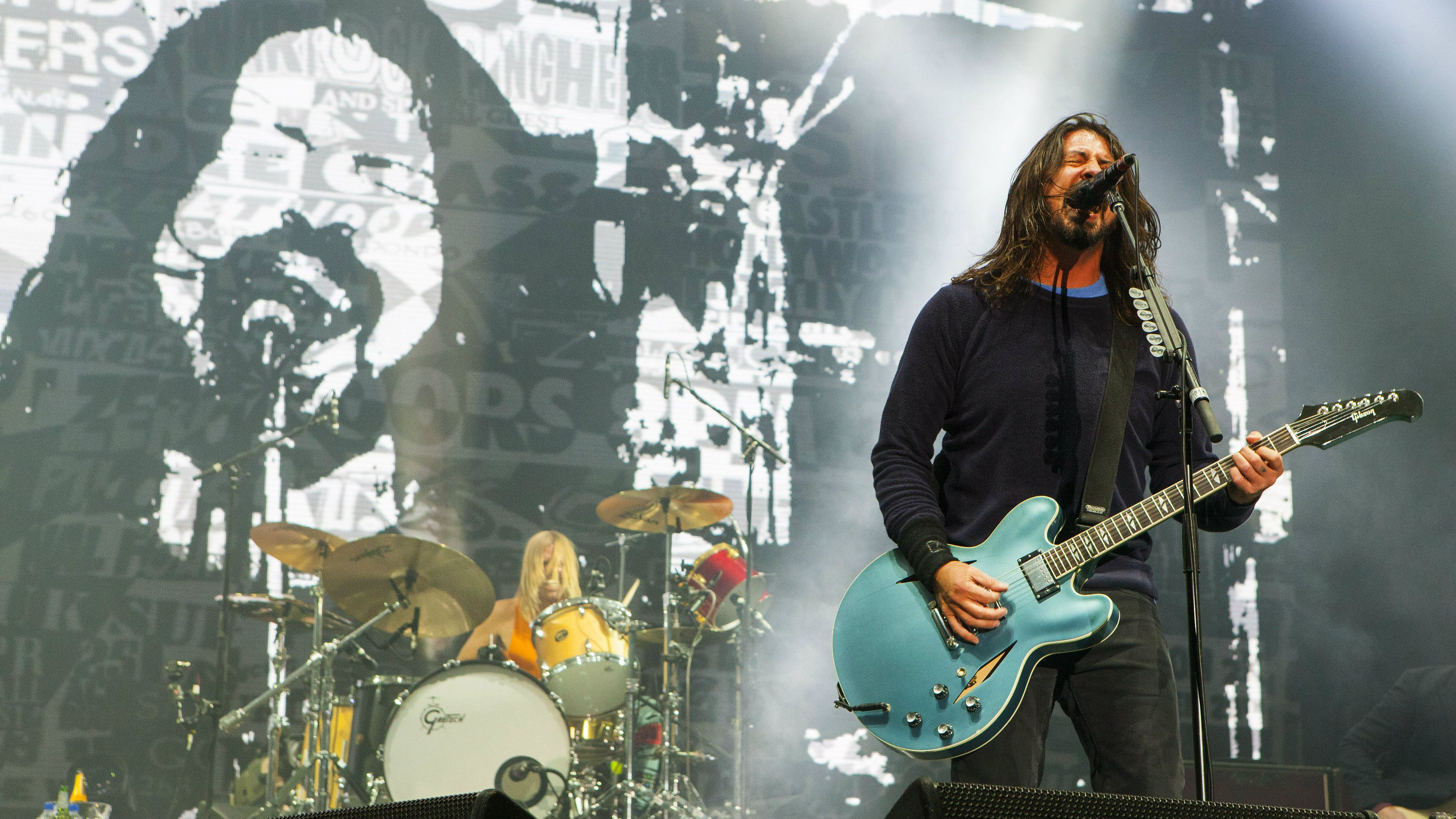 Taylor Hawkins, Dave Grohl and Nate Mendel of the Foo Fighters