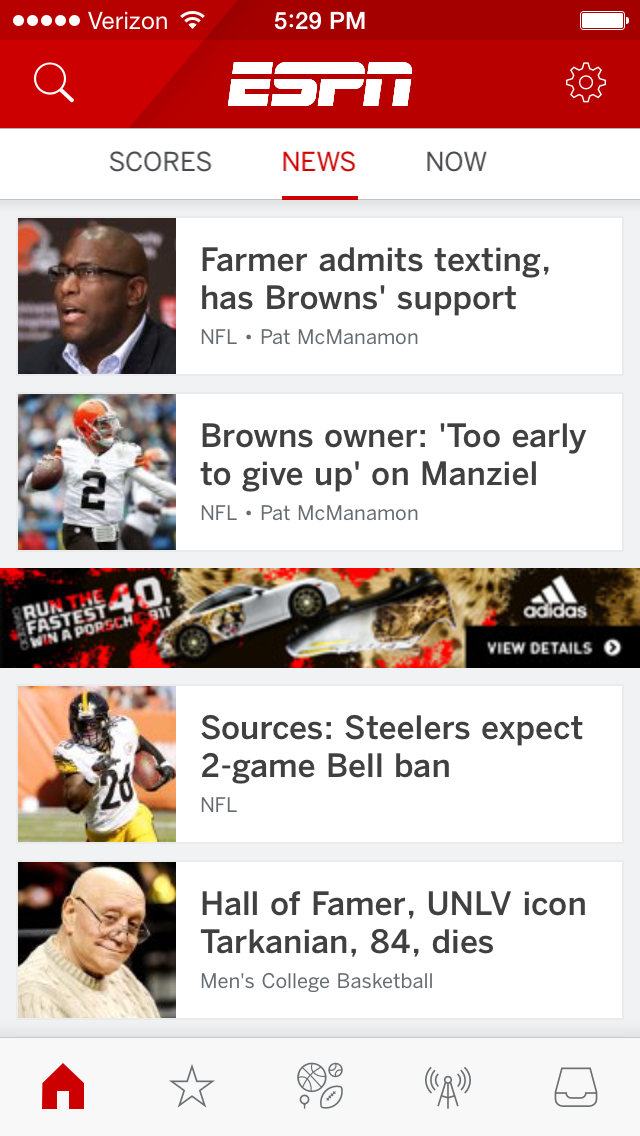 ESPN has a new mobile app and you will never guess what it's
