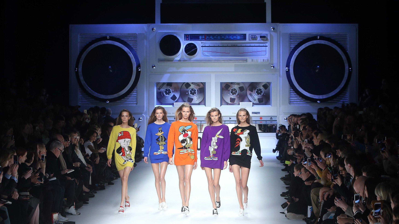 jeremy scott, looney tunes, milan fashion week, moschino