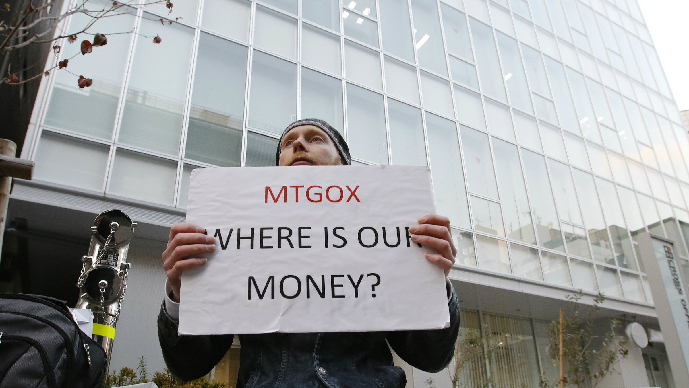 MT. Gox protester feb 2014