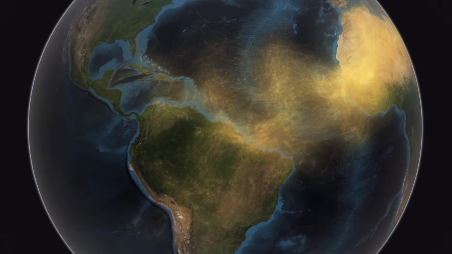 Screenshot of NASA Scientific Visualization Studio video.