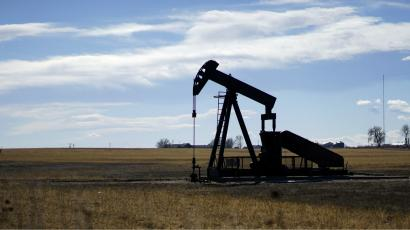 An oil well near Denver, Colorado in the US.