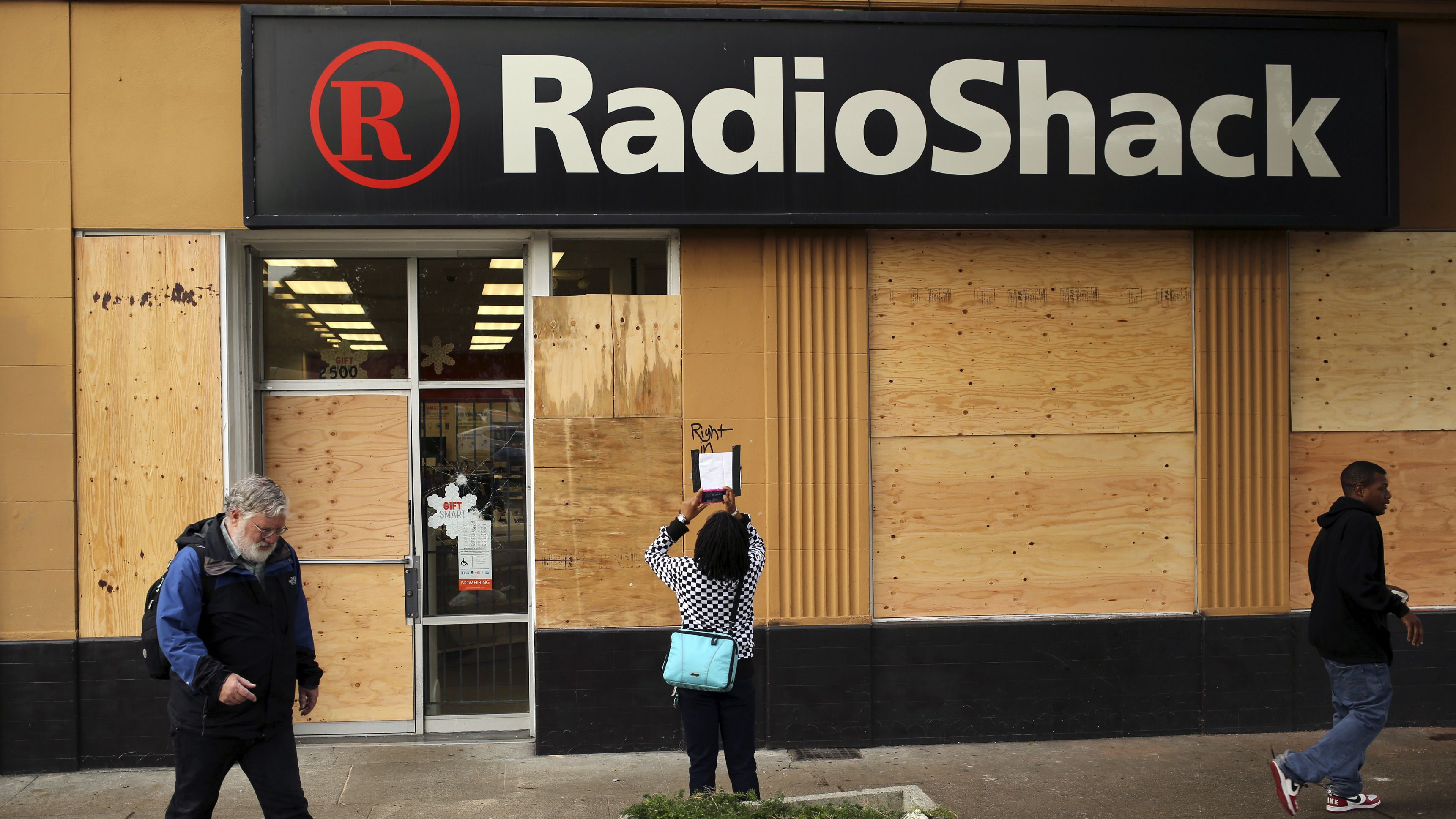 A boarded up Radio Shack retail store along Shattuck Avenue, in Berkeley