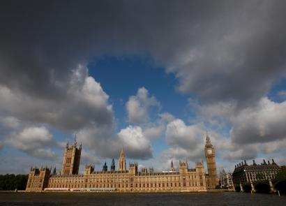 Britain's Houses of Parliament are seen across the river Thames in London May 18, 2009.