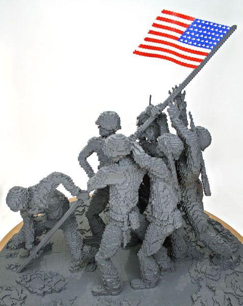 Nathan Sawaya Iwo Jima