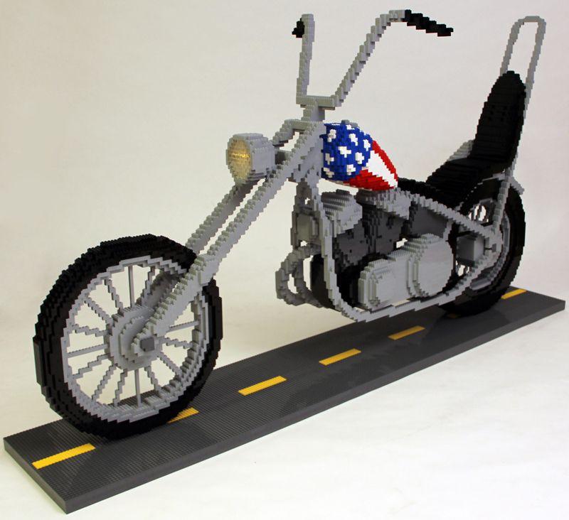 Nathan Sawaya motorcycle