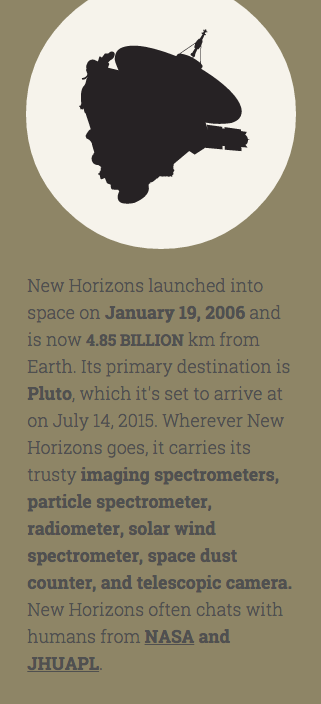 Space probes New Horizons