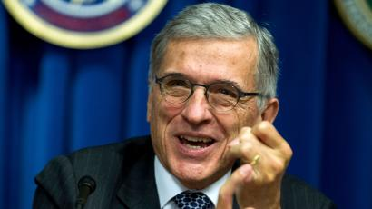 Federal Communications Commission (FCC) Chairman Tom Wheeler speaks during new conference in Washington, Wednesday, Oct. 8, 2014, to announce that AT&T will pay $80 million to FTC for consumer refunds in mobile cramming case, which is part of combined $105 million settlement with FTC and FCC.