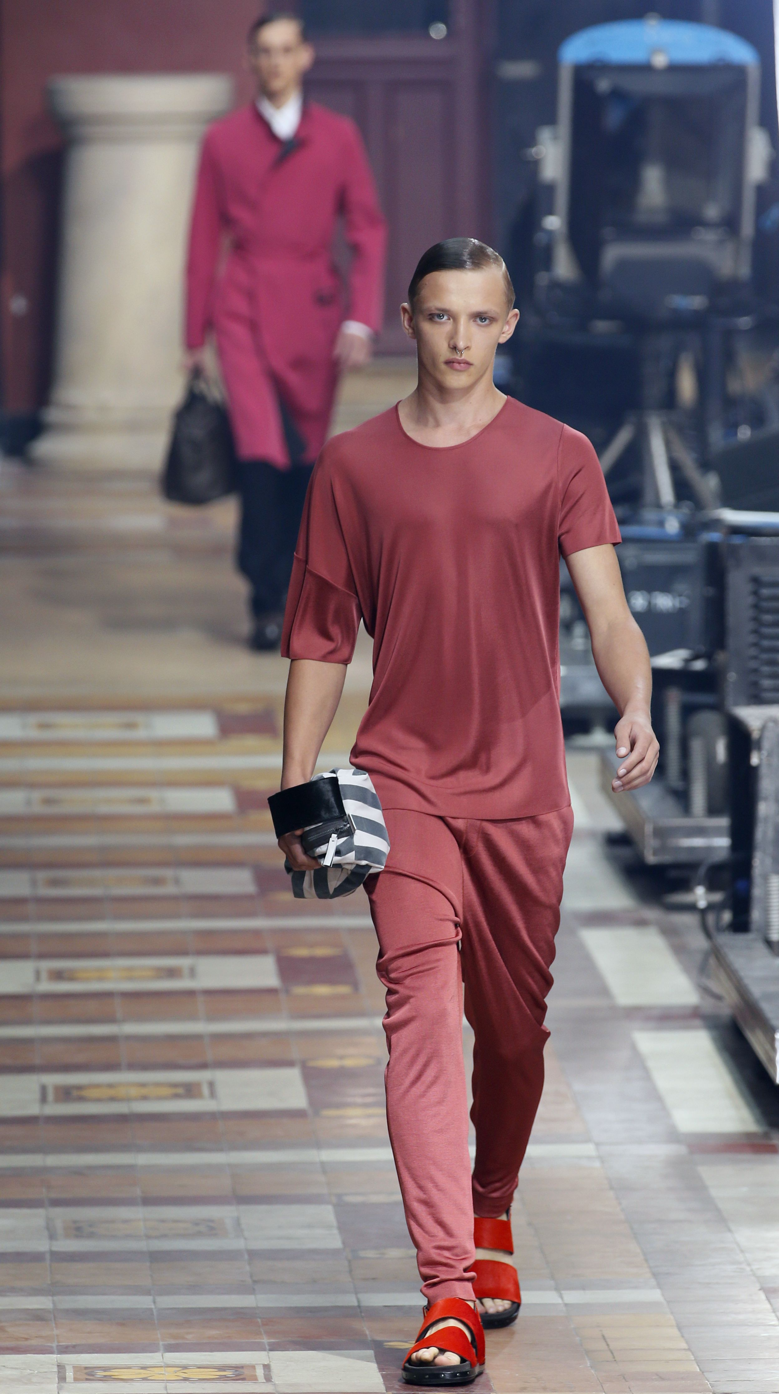 lanvin, sweatpants, style, fashion, lifestyle, menswear, spring 2014, paris fashion week
