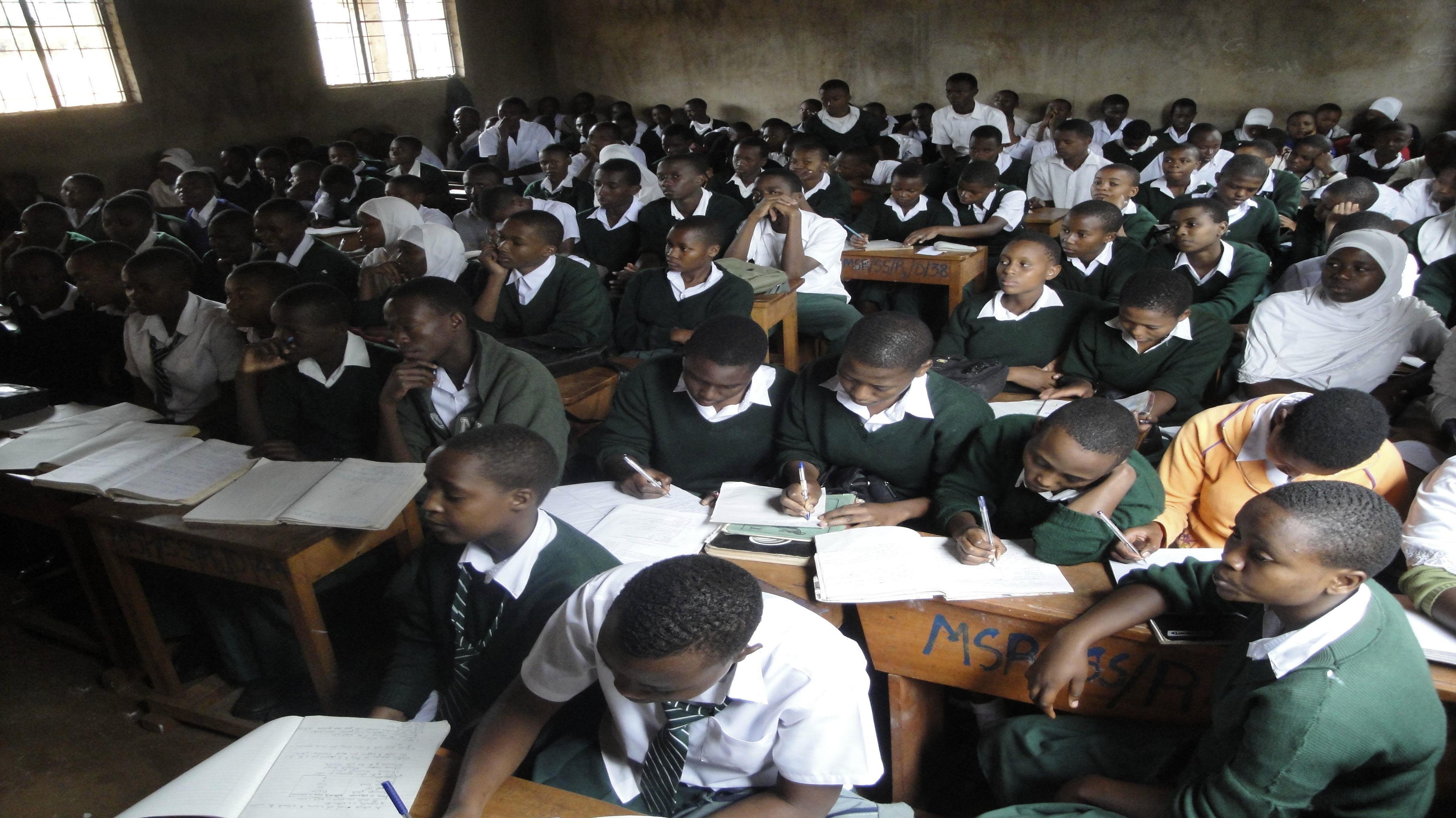 A Tanzanian secondary school