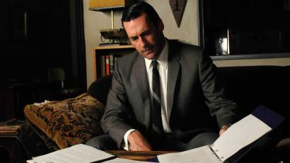 """In this image released by AMC, Jon Hamm portrays Don Draper in a scene from """"Mad Men."""""""