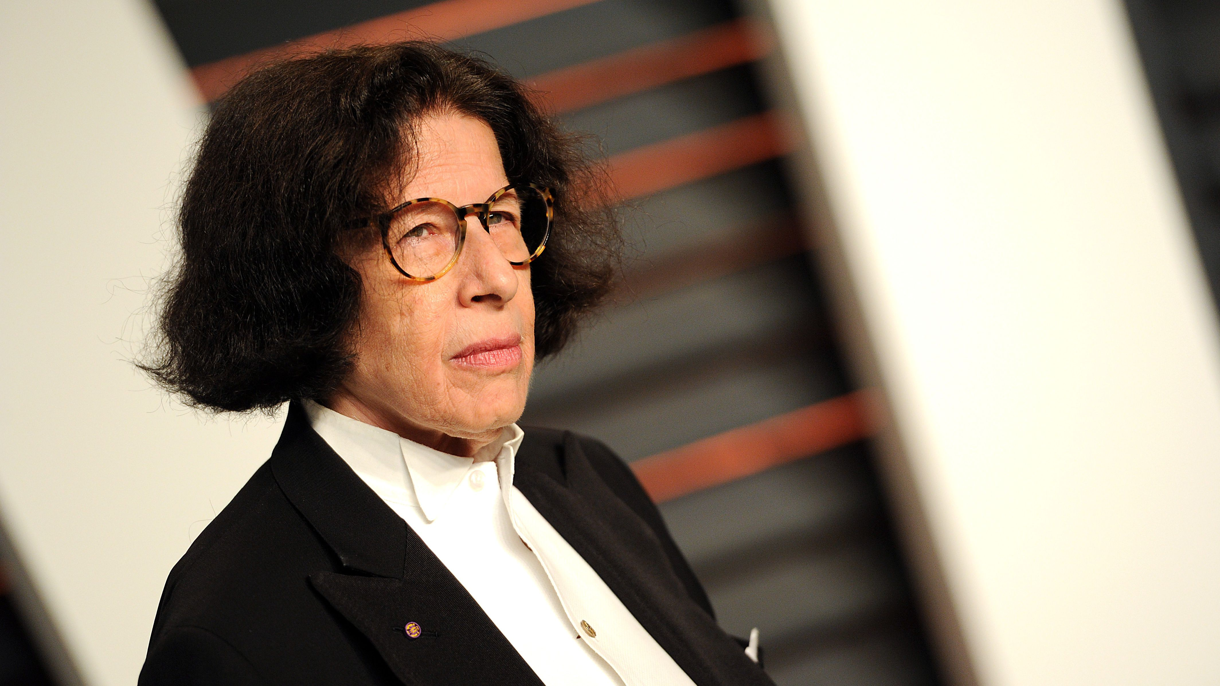 Author Fran Lebowitz arrives at the 2015 Vanity Fair Oscar Party on Sunday, Feb. 22, 2015, in Beverly Hills, Calif.